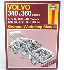 HAYNES WORKSHOP MANUAL / VOLVO 340 AND 360 1976 TO 1991