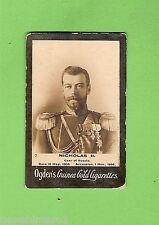 #D232. EARLY 1900s OGDENS   CIGARETTE CARDS, CZAR & CZARINA OF RUSSIA