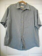 Men's Trader Bay Gray Striped Short Sleeve Button Down Shirt Size XL Regular