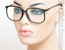 Carbon Metal Nerd Glasses Retro Hipster Vintage Style Clear Lens Black CB4