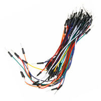 65 Pcs Solderless Breadboard Jumper Wires Tie Prototype Cable Points For Arduino
