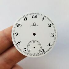 RARE Porcelain Clock Face Dial OMEGA Pocket Watch Swiss Original Vintage Men's