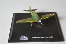 A6M2 Zero Type 11/21s  Plastic Replica  Plane, 1:144 - with Stand -preowned, #7