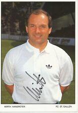 Hanspeter Wirth   FC ST.Gallen  Fußball Autogrammkarte signiert 365750