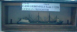 Liebenfels 1955 German Freighter by Carat C-030, Scale 1/1250