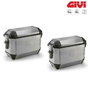 Pair Suitcases Side 36L Aluminum GIVI Monokey Trekker Alaska (ALA36APACK2)