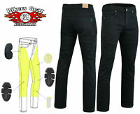 Australian Bikers gear Motorcycle Trousers Slim Stretch Jeans Lined with Kevlar