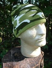 light army green, dark, white camoflage or camo beanie knit cap winter stocking