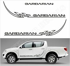 Mitsubishi L200 Barbarian tribal Replacement Doors and tailgate Decal graphics