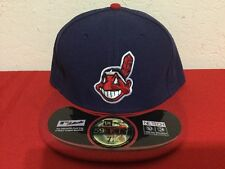 NEW ERA INDIANS CLEVELAND MLB FITTED CAP HAT 59FIFTY AUTHENTIC 7 1/2