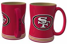 NFL San Francisco 49ers Red 14 oz Ceramic Relief Mug