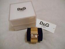 Montre Femme Dolce & Gabbana D&G Ladies Watch Comme Neuf, Doré Golden, Pile Neuf