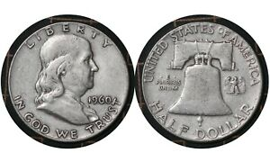 """½ Dollar 1960 """"Franklin"""" United States of America  🇺🇸 Silver Coin  # 199"""