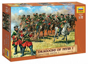 Plastic Toy Soldiers Northern War Russian Dragoons XVIIl scale 1:72 ZVEZDA