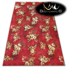 CHEAP & QUALITY CARPETS Feltback WILSTAR red Bedroom Large RUG ANY SIZE