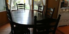 Pottery Barn Country French Dining Table and 6 Chairs Adjustable Good Condition