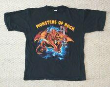 Men's L Monsters of Rock 1991 T-Shirt Metallica AC/DC Motley Crue Queensryche BC
