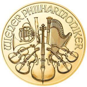 Österreich 10 Euro 2021 - Wiener Philharmoniker - Anlagemünze - 1/10 Oz Gold ST