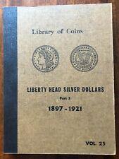 VINTAGE LIBRARY of COINS MORGAN SILVER DOLLARS ALBUM part 3, vol. 25  - NO COINS