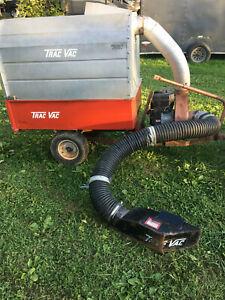 Trac Vac Tow-Behind Leaf Vacuum Dump Trailer