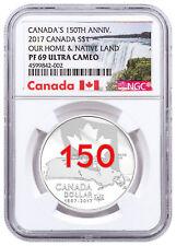 2017 Canada 150th Home & Native Land 3/4 oz Silver Enameled NGC PF69 UC SKU49733