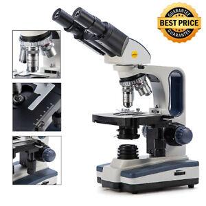 SWIFT 40X-2500X Binocular Compound Microscope W/ Mechanical Stage Fine Focusing