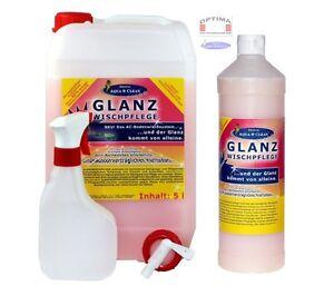 """Aqua Clean """"GLANZ WISCHPFLEGE"""" Bodenreiniger 5 Liter Kanister / 1 Liter Flasche"""