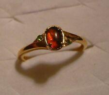Ammolite & Diopside Ring Sz. 7  3 gemstones .55tcw MSRP$499