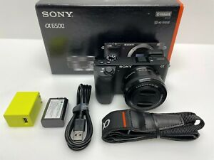 Sony - Alpha a6500 Mirrorless Camera with E PZ 16-50mm F3.5-5.6 OSS Lens - black