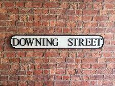Handmade DOWNING STREET Vintage Wood London Street Road Sign
