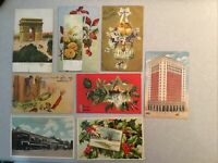 Vintage Miscellaneous Color Postcards. Lot Of 8. From 1904-1910, FREE Shipping.