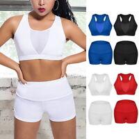 Damen Sportset Trainingsanzug Yoga Jogginganzug Fitness Tanktops Shorts Hose Bra