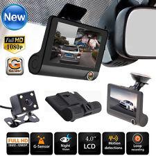 4'' HD 1080P Dual Lens Car DVR Dash Cam Rear Video Camera Recorder Night Vision
