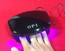 OPI GEL SHINE NAIL POLISH DRYER LED LAMP/LIGHT UV 4 FINGERS HAND SENSOR BLK NEW
