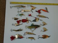 Job Lot of old Fishing Spinners  &  Lures.