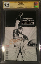 Reborn #1 9.2 NM- CGC SS John Cassaday Sketch Variant Captain America