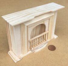 1:12 Scale Natural Finish Wooden Georgian Fireplace Tumdee Dolls House 176