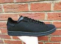 adidas Mens Originals Stan Smith Shoes Black Nubuck Trainers
