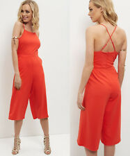 New Look Strappy Culotte Jumpsuit in Red Sizes 6 to 18