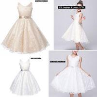Vestito Bambina Abito Cerimonia Pizzo Elegante Girl Party Princess Dress CDR057