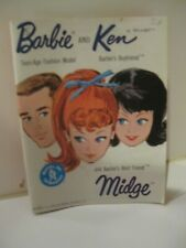 1962 FASHION BOOKLET  BARBIE AND KEN WITH MIDGE