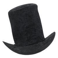 Top Hat Velvet Black Fancy Dress Adult