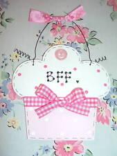 Girls BFF Best Friend ~ CUPCAKE SIGN Birthday Christmas Gift Present Keepsake