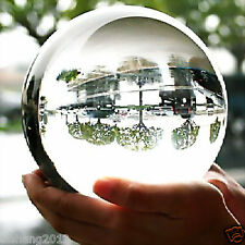 100MM+stand- Natural White Sphere Large Crystal Ball Healing Stone