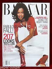 Harper's Bazaar Magazine ~ September 1999 ~ Lauryn Hill Kate Moss BIG ISSUE!