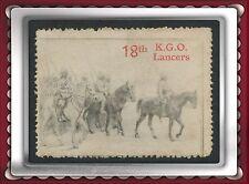 FRANCE VIGNETTE Delandre Angleterre INDE India 18th K.G.O Lancers, Poster stamp