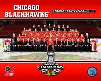 2013 STANLEY CUP Chicago Blackhawks TEAM Patrick Kane,Jonathan Toews+ 8x10 photo