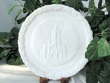 Fenton ~ SALE ~ 1973 Christmas in America Plate ST MARY'S in the MOUNTAINS White