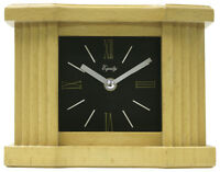 "25110 Equity by La Crosse 6"" Natural Wood Grain Mantel Analog Clock"