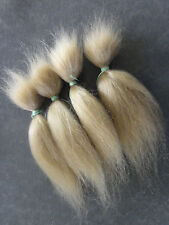 MOHAIR  100%  Bébé REBORN - REBORNING - ROOTING 30g -long- BLOND CENDRE